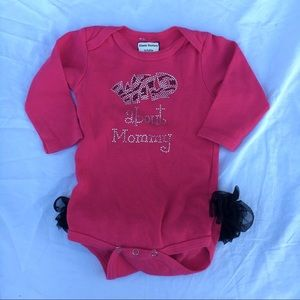 Other - Wild about Mommy tutu onesie - 6/12 Months